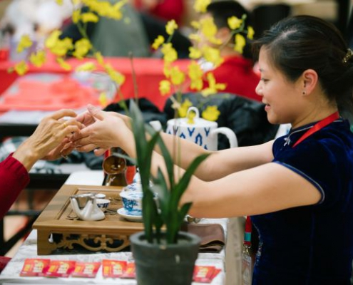Chinese New Year Holiday Tradition Tea Ceremony